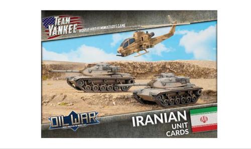Team Yankee:  Iranian Unit Cards (x41 cards)