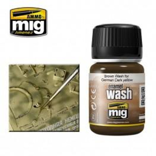 AMMO: Enamel Washes - Brown for German Dark Yellow (35ml)