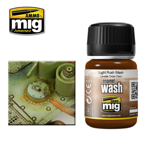 AMMO: Enamel Washes - Light Rust (35ml)