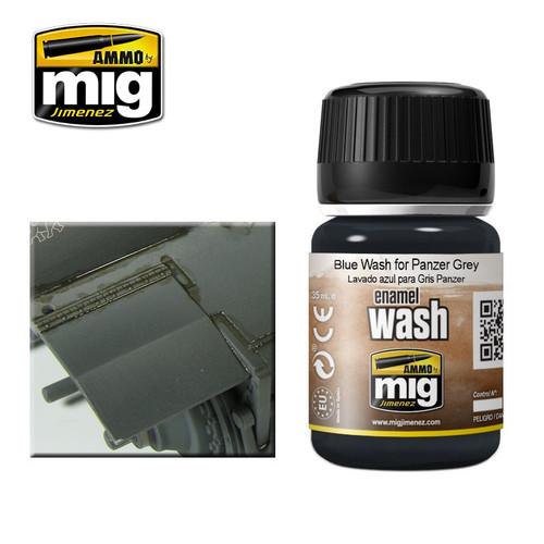 AMMO: Enamel Washes - Blue Wash for Panzer Grey (35ml)