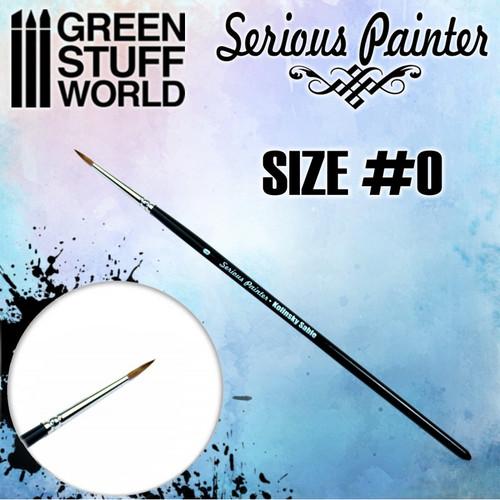 Serious Painter Kolinsky Sable Brush - Size 0