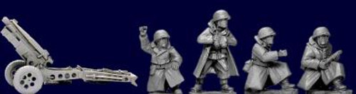 28mm WWII: (USA) 75mm Howitzer & Crew (3)