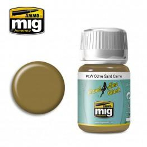AMMO: Panel Line Wash - Ochre for Sand Camo (35ml)