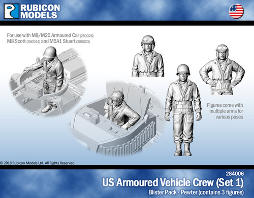 US Armored Vehicle Crew (Set 1)- Pewter