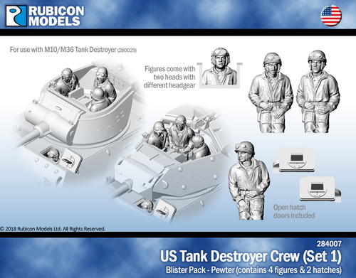 US Tank Destroyer Crew (Set 1)- Pewter