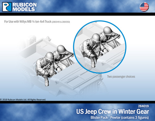 US Jeep Crew - US Infantry in Winter Gear- Pewter