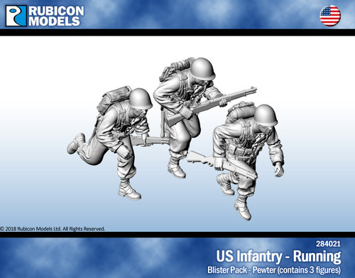 US Infantry Running- Pewter