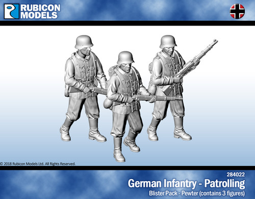 German Infantry Patrolling- Pewter