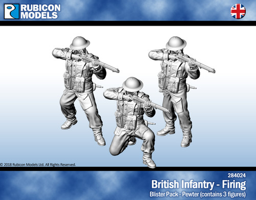 British Infantry Firing- Pewter