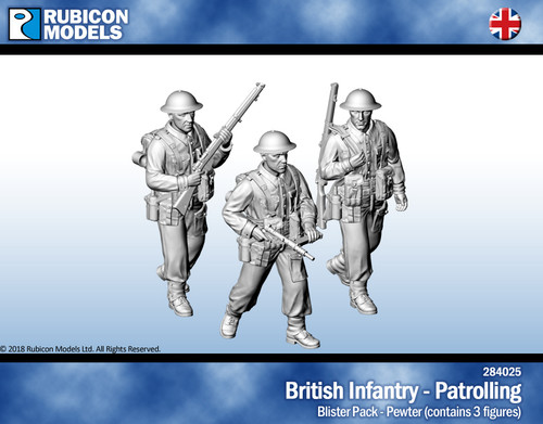 British Infantry Patrolling- Pewter