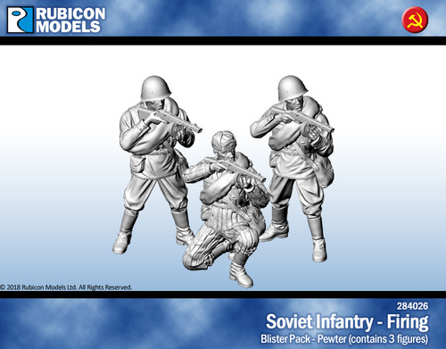 Soviet Infantry Firing- Pewter