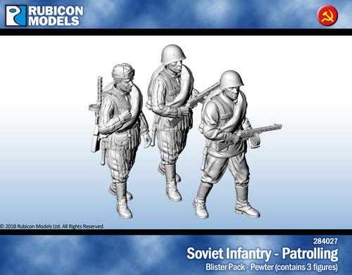 Soviet Infantry Patrolling- Pewter