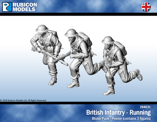 British Infantry Running- Pewter