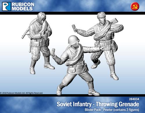 Soviet Infantry Throwing Grenade- Pewter