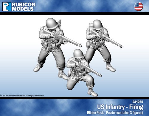 US Infantry Firing- Pewter