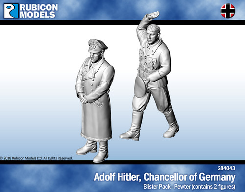 Adolf Hitler, Chancellor of Germany- Pewter