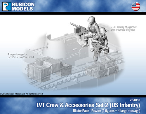 LVT Crew & Accessories Set 2: US Infantry with Stowage for LVT-2/LVT(A)-2/LVT4- Pewter