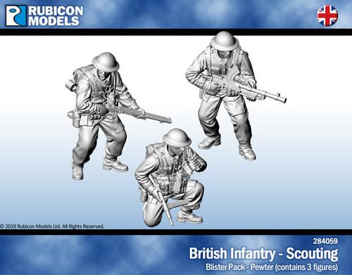 British Infantry Scouting- Pewter