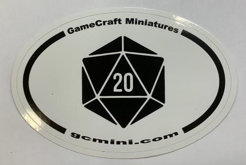 """GCM """"d20"""" Oval Sticker"""