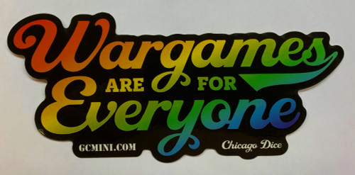 """""""Wargames are for Everyone"""" Sticker"""