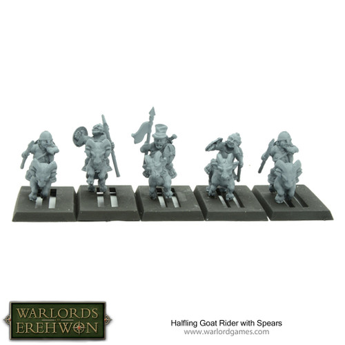 Hobbit / Halfling Goat Riders with Spears