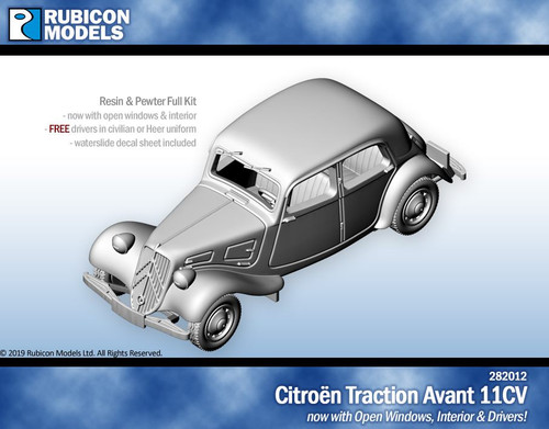 Citroen Traction Avant 11CV with Interior- Resin