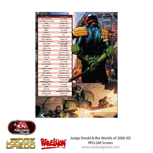 Judge Dredd RPG GM Screen