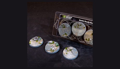 Battle Ready Bases: Urban Warfare Bases Round 50mm (x3)