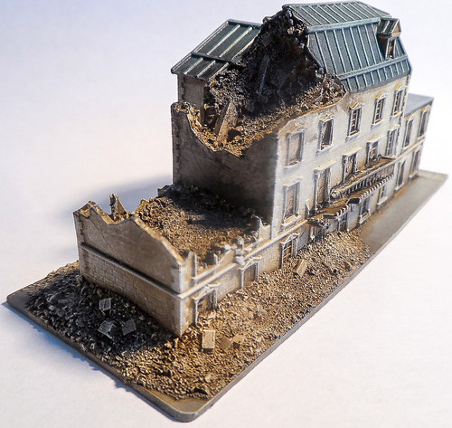 6mm Large Ruined Building - 285VAC001