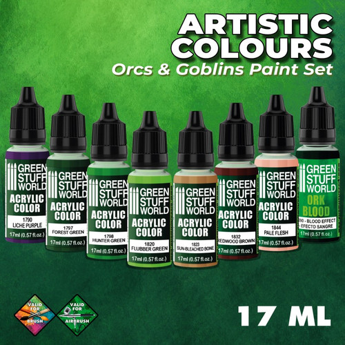 Green Stuff World: Paint Set - Orcs and Goblins