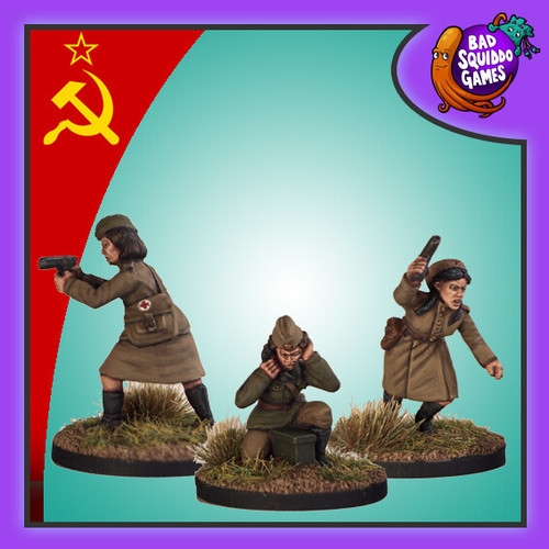 Soviet Female Command (Medic, Officer, Radio)