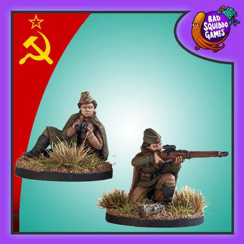 Soviet Female Sniper Team (kneeling)