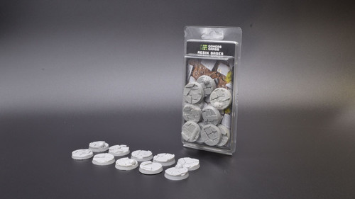 Gamers Grass - Temple bases, 10 pieces, resin bases, round, 32 mm