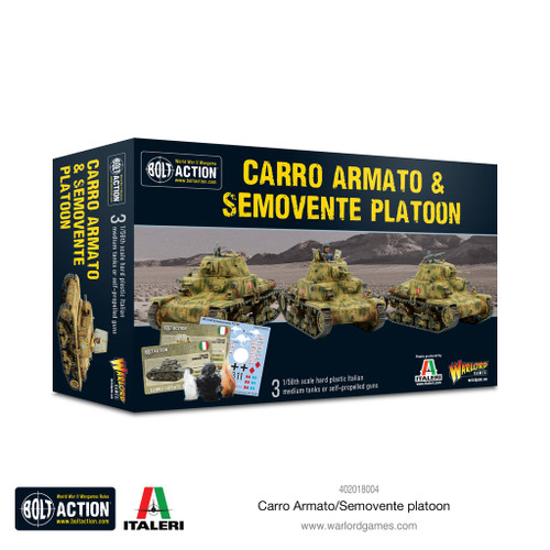 Bolt Action: Italian Carro Armato and Semovente Platoon