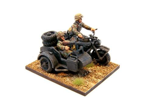 Fallschirmjaeger motorcycle + sidecar