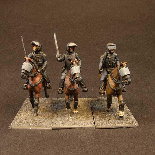Mounted Police incl horses (3/Pk)