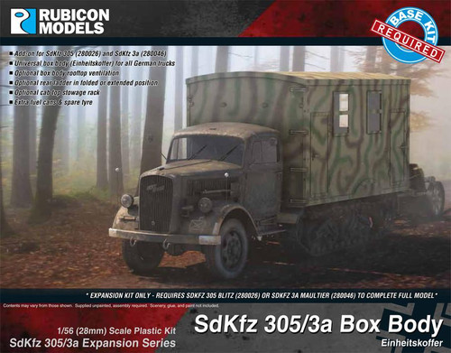 SdKfz 305/3aExpansion Set - Box Body