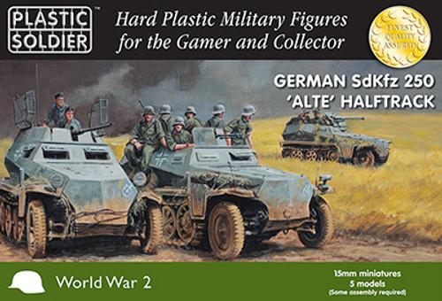 15mm German SdKfz 250 alte halftrack
