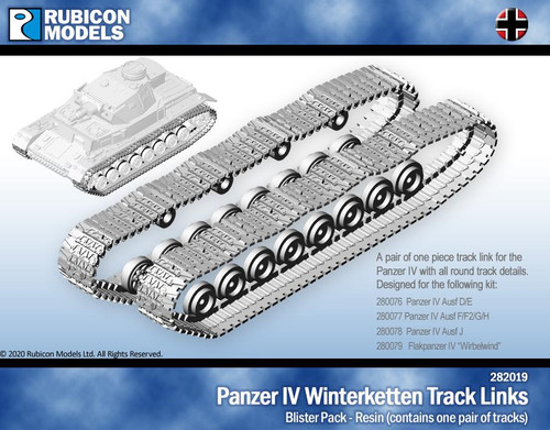 Panzer IV Winterketten Track Links- Resin
