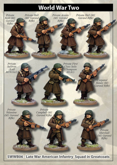 US Infantry Squad in Greatcoats