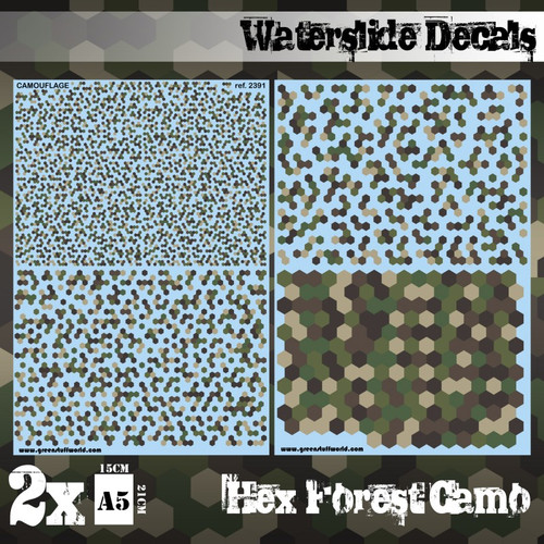 Waterslide Decals - Hex Forest Camo