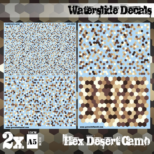 Waterslide Decals - Hex Desert Camo