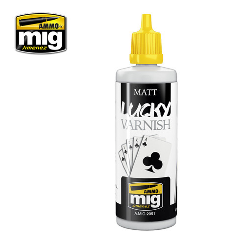 Matt Lucky Varnish (Big 60 Ml Size)