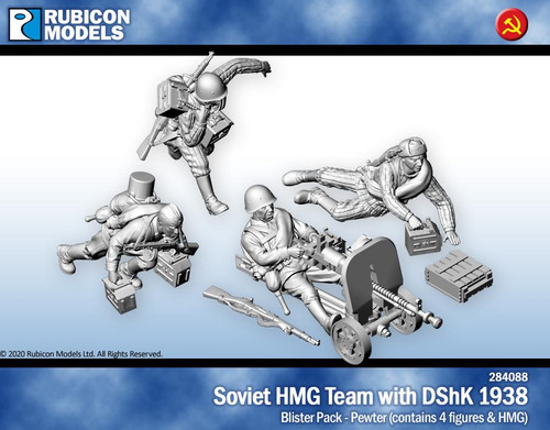 Rubicon Models Soviet Heavy Machine Gun Team - Pewter