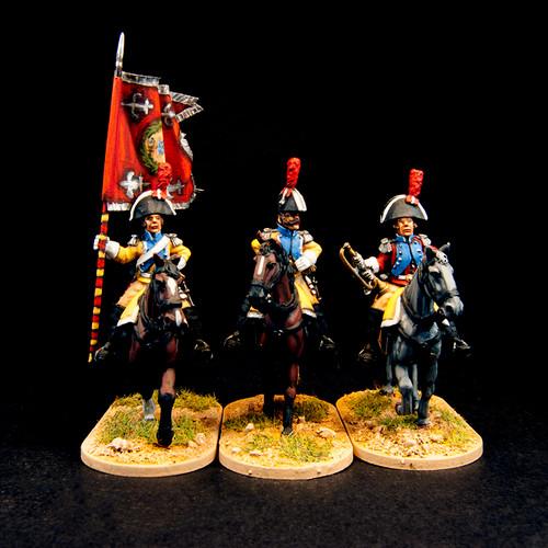 Spanish Dragoons - Command (3/pk)