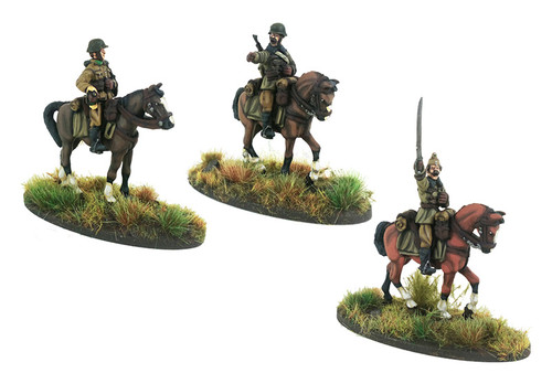 Mounted Hungarian Huszar Bugler & NCOÕs - 3 mounted models