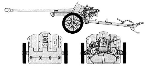 Italian PaK38 Anti-tank Gun - Winter Uniform