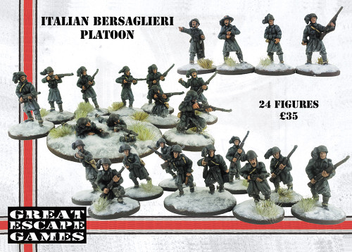 Italian Bersaglieri Platoon - Winter Uniform