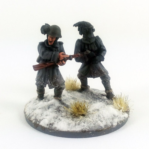 Italian Bersaglieri Flamethrower Team - Winter Uniform