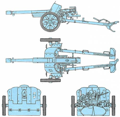 Italian Bersaglieri 75/39 Anti-tank Gun - Winter Uniform